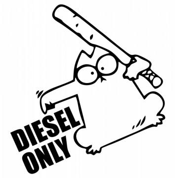 Autocolante com Diesel Only