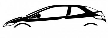 Autocolante com Honda Civic FN