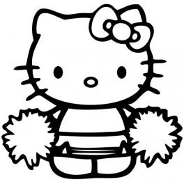 Autocolante - Hello Kitty Cheerleader