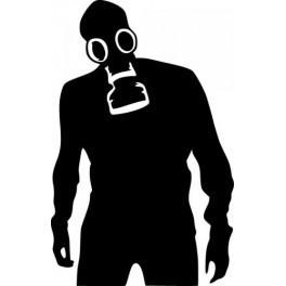 Autocolante - Homem Máscara de Gas