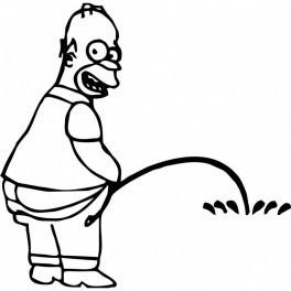 Autocolante - Homer Simpson Mijão