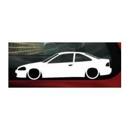 Autocolante - Honda Civic EJ coupe