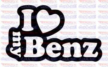 Autocolante - I love my Benz