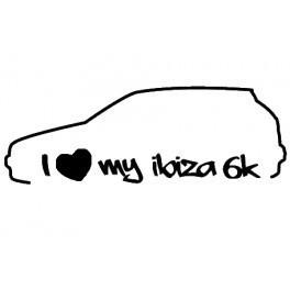 Autocolante -I Love my Ibiza 6K