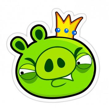 Autocolante Impresso - Angry Birds porco king