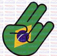 Autocolante Impresso - Mão JDM  Brasil