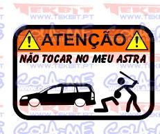 Autocolante Impresso - Não tocar no meu Opel Astra G Caravan
