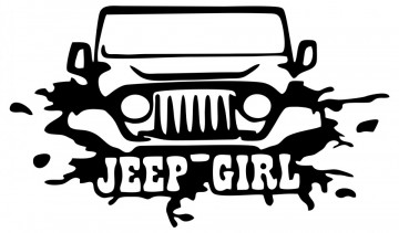 Autocolante - Jeep Girl
