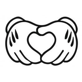 Autocolante - Luvas - Coração