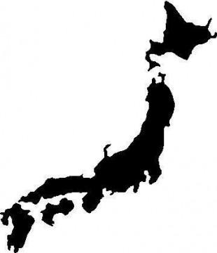 Autocolante - Mapa japão