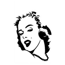 Autocolante- Marilyn Monroe