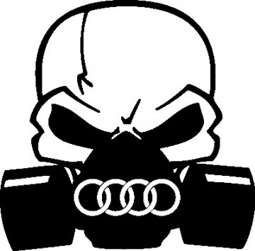 Autocolante - Máscara  de Gás AUDI