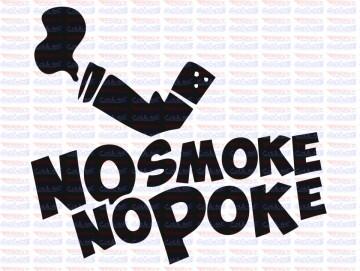 Autocolante - no smoke no poke