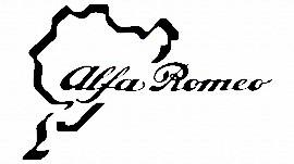 Autocolante para Alfa Romeo pista