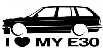 Autocolante para I love BMW E30 Touring