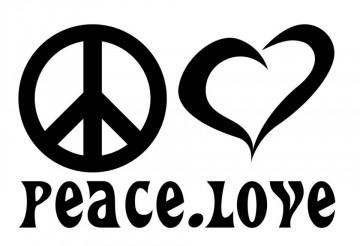 Autocolante - Peace Love