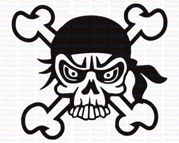 Autocolante - Pirata Caveira