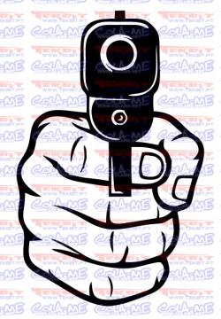 Autocolante - Pistola
