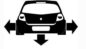 Autocolante - Renault clio 4 - baixo e largo