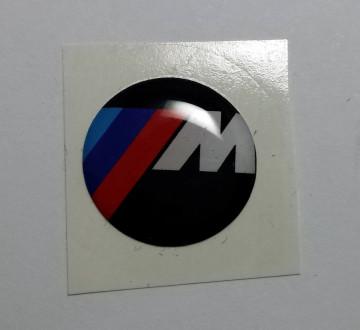Autocolante Resinado 3D com BMW ///M - 19mm