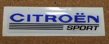 Autocolante Resinado 3D para Citroen Sport - 105 x 27mm