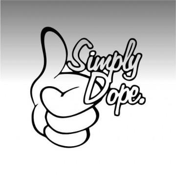 Autocolante - Simply dope