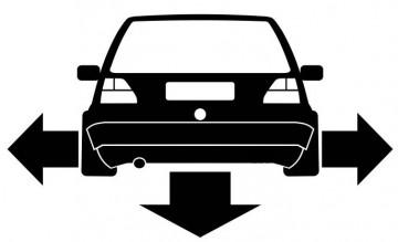 Autocolante - Volkswagen Golf 2 - Traseira (Baixo e Largo)