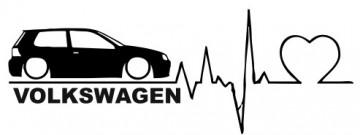 Autocolante - Volkswagen Golf IV -  batimentos cardiacos