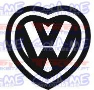 Autocolante - VW coração