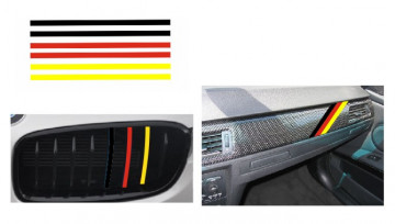 Autocolantes - Faixas BMW (Preto, vermelho, amarelo) 1x20cm