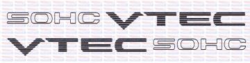 Autocolantes - SOHC VTEC (Par)