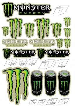 Folha / Pack de Autocolantes - Monster 01