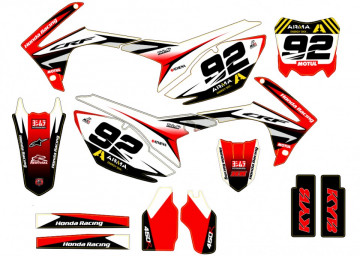 Kit Autocolantes Para HONDA CRF 450 13-16
