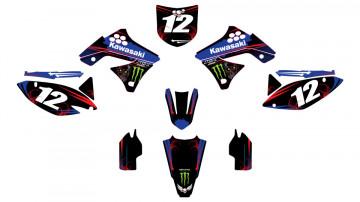 Kit Autocolantes Para Kawasaki KXF 250 09-12