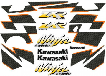 Kit Autocolantes Para Kawasaki Ninja ZXR 250