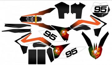 Kit Autocolantes Para KTM SX MX 11-12