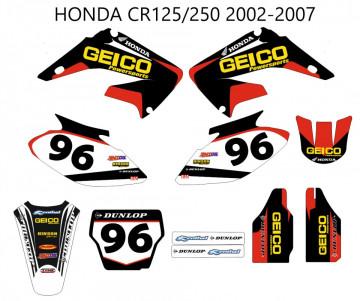 Kit de autocolantes para  Honda CR 125 / 250 02-07