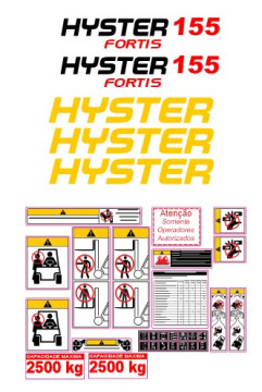 Kit de Autocolantes para HYSTER 155 Fortis
