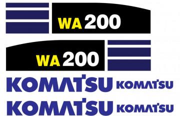 Kit de Autocolantes para KOMATSU WA 200