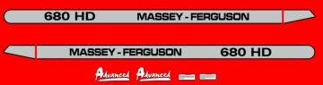 Kit de Autocolantes para Massey Ferguson 680HD