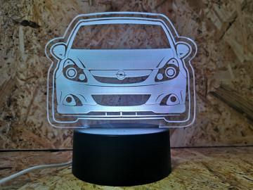 Moldura / Candeeiro com luz de presença - Opel Corsa D