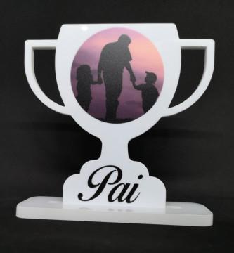 Moldura Pai - Troféu em acrílico