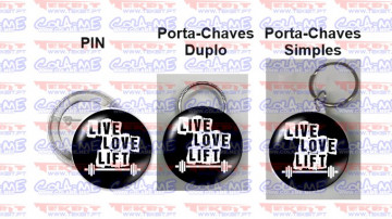 Pin / Porta Chaves - Live Love Lift