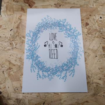 Placa Decorativa em PVC - Love is All You Need