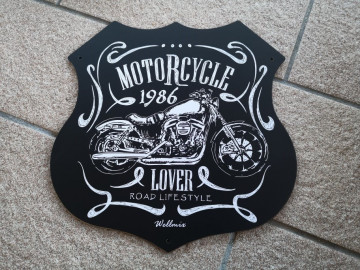 Placa MDF decorativa - Motorcycle 1986 | Lover road lifestyle