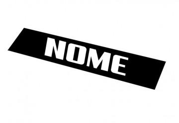 Placa Tapa Matrícula em PVC 51x11cm - Nome