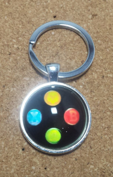 Porta Chaves - Botões estilo comando da Xbox ( Preto )
