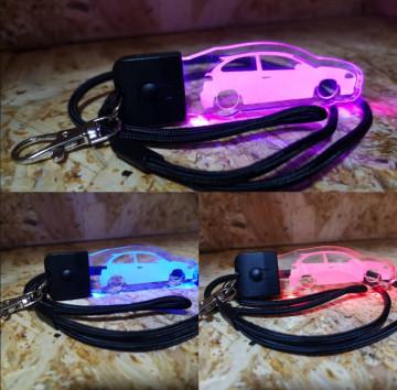 Porta Chaves com luz Multicor com Seat Ibiza 6L