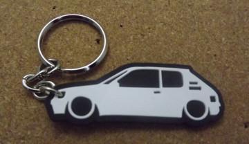 Porta Chaves com silhueta de Peugeot 205