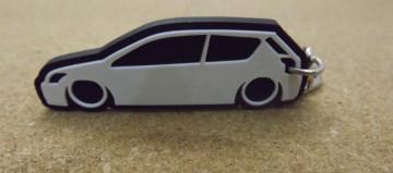 Porta Chaves com silhueta de Toyota Corolla E13